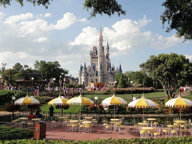 Castelo em parque da Disney nos EUA