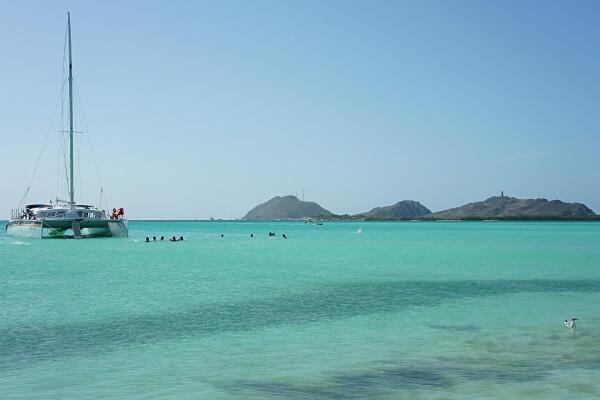 Mar caribenho em Los Roques na Venezuela.